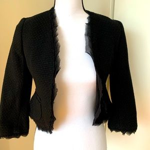 Black Chanel style Banana Republic blazer